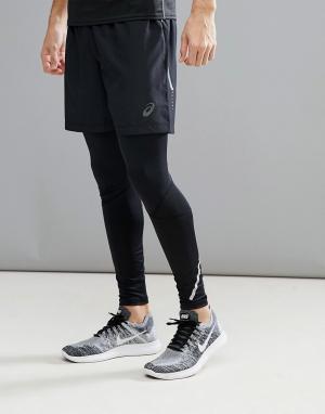 Asics Черные шорты Running 7 134093-0904. Цвет: черный