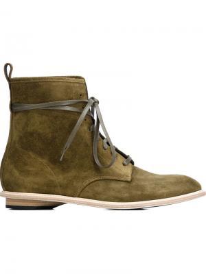 Ботинки на шнуровке Valas. Цвет: зелёный
