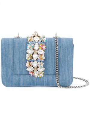 Джинсовая сумка на плечо Bibi Gedebe. Цвет: синий