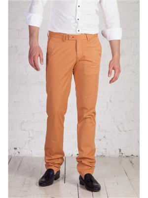 Брюки Чинос Angelo Bonetti. Цвет: светло-коричневый, оранжевый