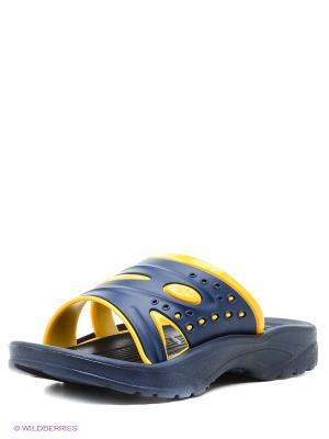 Шлепанцы Дюна. Цвет: темно-синий, желтый