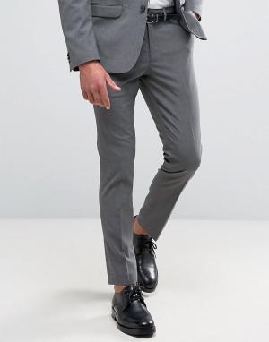 New Look Серые брюки зауженного кроя. Цвет: серый