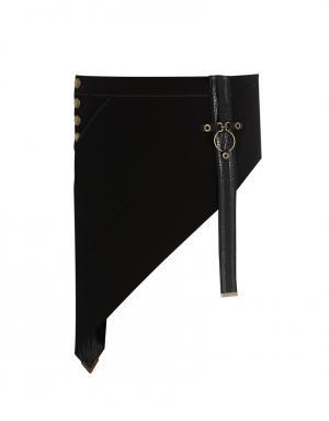 Асимметричная юбка Anthony Vaccarello. Цвет: черный
