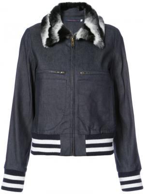 Куртка-бомбер с отложным воротником Harvey Faircloth. Цвет: none