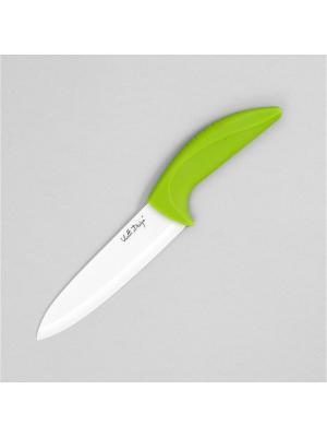 Нож керамический Vialli Design 15 см зеленый MOULINvilla. Цвет: зеленый