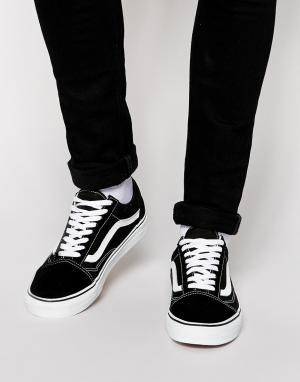 Vans Черные кроссовки Old Skool VD3HY28. Цвет: черный