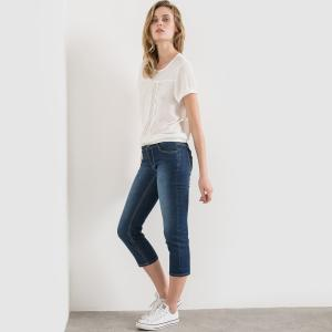 Jean pantacourt La Redoute Collections. Цвет: синий потертый
