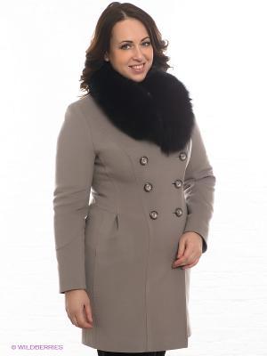 Пальто Klimini. Цвет: светло-бежевый