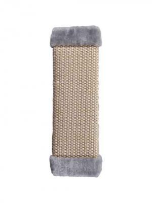 Когтеточка большая плетеная сизаль 50х15см Шурум-Бурум серая для кошек. Цвет: серый, бежевый