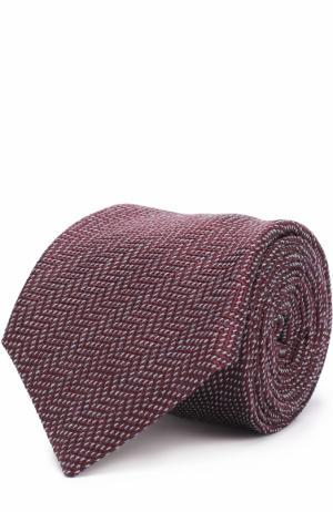 Галстук из смеси шелка и шерсти Brioni. Цвет: бордовый