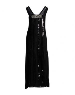 Длинное платье SAVE THE QUEEN. Цвет: черный