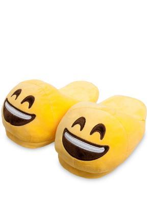 Тапочки Смайлик Смех Lovely Joy. Цвет: желтый