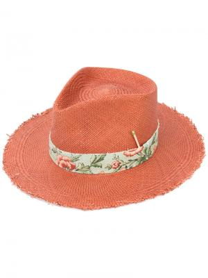 Соломенная шляпа Nick Fouquet. Цвет: жёлтый и оранжевый