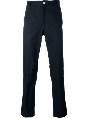 Узкие брюки чинос Thom Browne. Цвет: синий