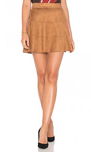 Замшевая юбка waverly David Lerner. Цвет: коричневый