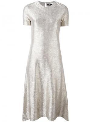 Платье с эффектом металлик Ps By Paul Smith. Цвет: металлический