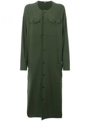 Свободное платье-рубашка Zucca. Цвет: зелёный
