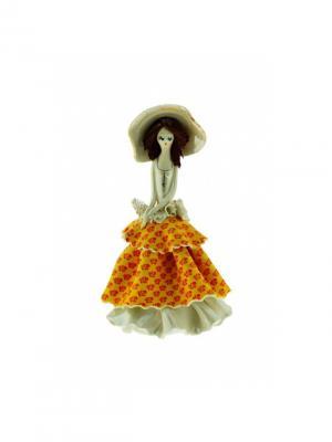 Статуэтка Дама Zampiva. Цвет: желтый, белый, красный