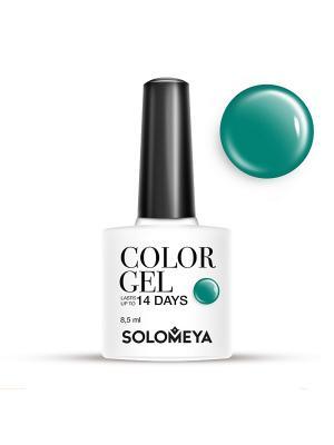 Гель-лак Color Gel Тон Betsy SCG013/Бэтси SOLOMEYA. Цвет: морская волна