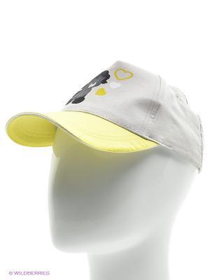 Бейсболка YO!. Цвет: белый, желтый