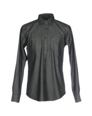 Джинсовая рубашка MESSAGERIE. Цвет: стальной серый