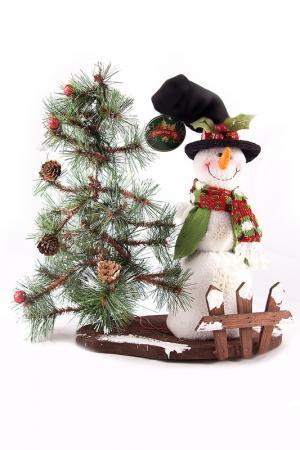 Композиция Снеговик Christmas. Цвет: мульти