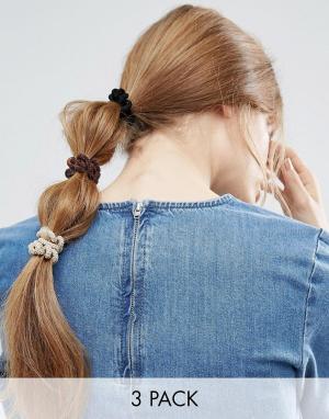 ASOS Набор ограниченной серии из 3 резинок-спиралек для волос. Цвет: мульти