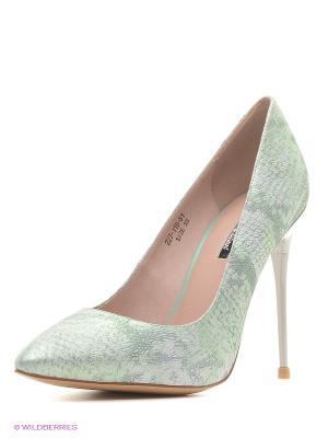 Туфли Dino Ricci. Цвет: серо-зеленый, серебристый