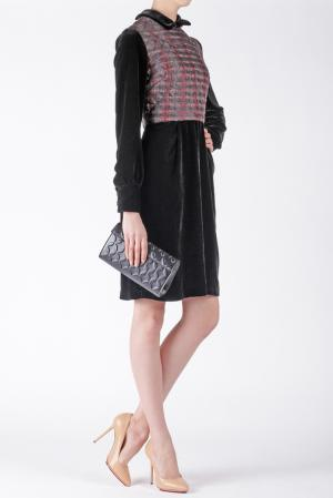 Платье из нейлона Ruffian. Цвет: черный, бордовый
