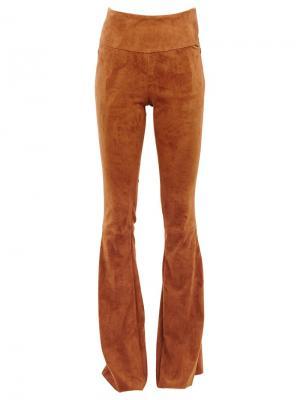 Расклешенные брюки Drome. Цвет: коричневый