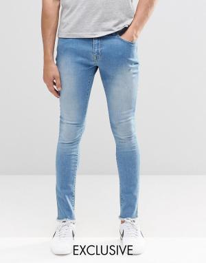 Brooklyn Supply Co. Суперзауженные джинсы с необработанными краями Co. Цвет: синий
