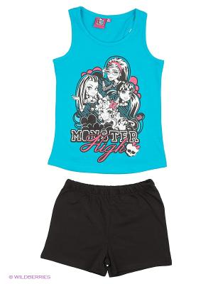 Пижама Monster High. Цвет: черный, синий