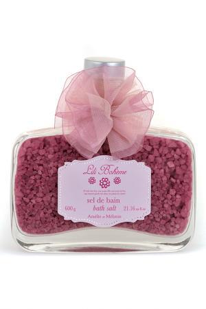 Соль для ванн Amelie et Melanie. Цвет: розовый