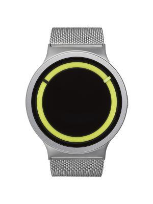 Наручные часы Ziiiro Eclipse Metalic Chrome Lemon. Цвет: серебристый, желтый