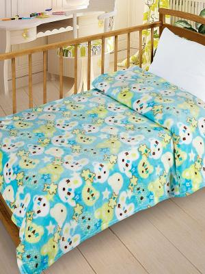 Плед  Велсофт-беби в кроватку VB10, 95х130 Letto. Цвет: голубой