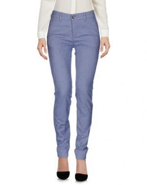 Повседневные брюки CARE LABEL. Цвет: синий