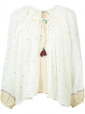 Peasant blouse Mes Demoiselles. Цвет: белый