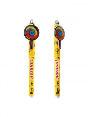 Ручка шариковая Bizon. Цвет: желтый