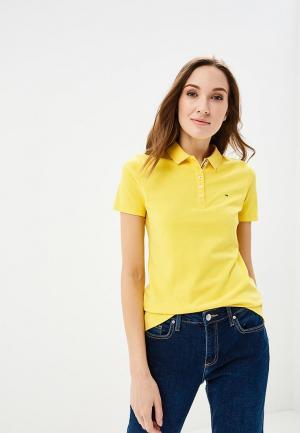 Поло Tommy Jeans. Цвет: желтый