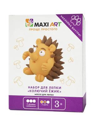 Набор для Лепки Колючий Ёжик MAXITOYS. Цвет: темно-коричневый, светло-коричневый