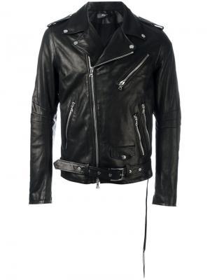 Байкерская куртка на молнии Amiri. Цвет: чёрный
