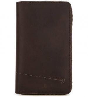 Кожаный кошелек на молнии и кнопках aunts & uncles. Цвет: коричневый