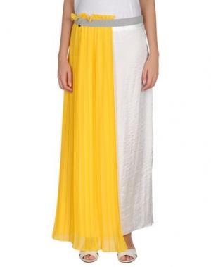 Длинная юбка GIORGIA & JOHNS. Цвет: желтый