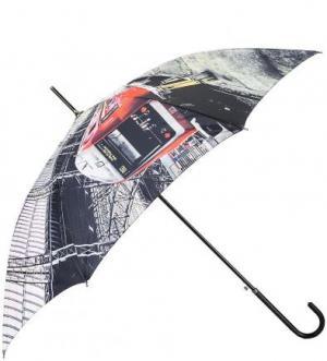 Зонт-трость с тефлоновым покрытием купола FLIORAJ. Цвет: мультиколор