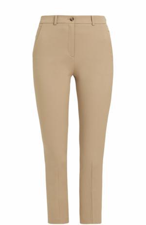 Укороченные брюки-скинни со стрелками Michael Kors Collection. Цвет: бежевый
