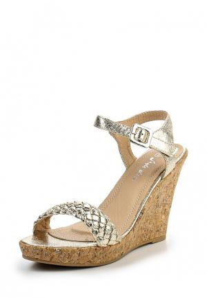 Босоножки Style Shoes. Цвет: золотой