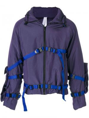 Спортивная куртка с ремешками Cottweiler. Цвет: розовый и фиолетовый