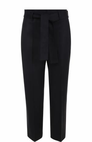 Укороченные брюки прямого кроя со стрелками BOSS. Цвет: синий