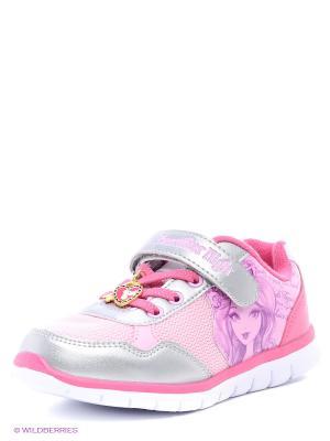 Кроссовки Kakadu. Цвет: розовый, серебристый