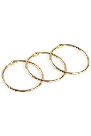 Кольца для занавесок MOROSHKA. Цвет: золотой